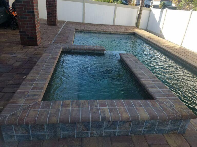 Pool Deck Daytona Beach Harvest Blend brick pavers