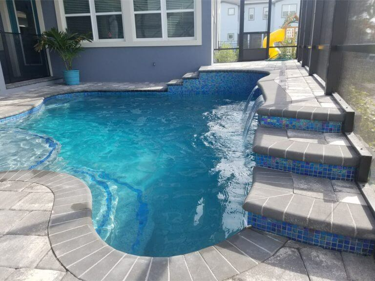Pool Deck Lake Nona Slate brick pavers