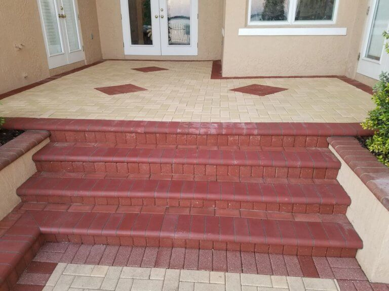 brick pavers walkway after number 1 pavers
