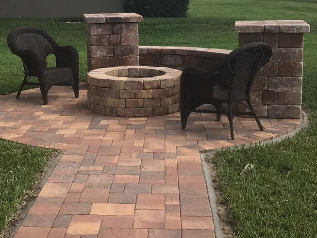 brick pavers fire pit number 1 pavers