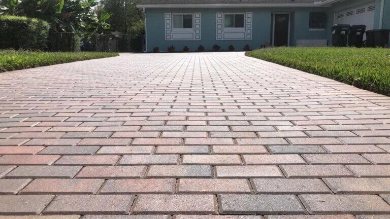 brick pavers Driveway Holland stone Adobe number 1 pavers
