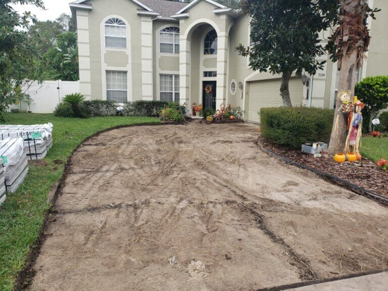 brick pavers driveway before number 1 pavers