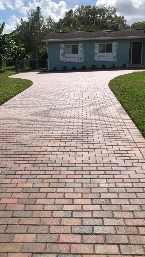 brick pavers Driveway Holland stone Adobe